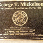 Gov. George T. Mickelson Plaque
