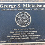 Gov. George S. Mickelson Plaque