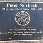 Gov. Peter Norbeck Plaque